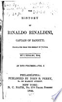 The History Of Rinaldo Rinaldini Captain Of Banditti