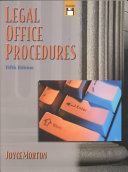 Cover of Legal Office Procedures