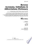 Acronyms, Initialisms & Abbreviations Dictionary