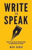 Write to Speak