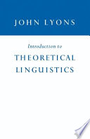 Introduction to Theoretical Linguistics