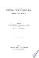 Professor W.G. Elmslie, D.D.