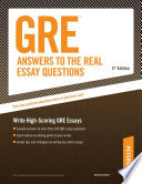 GRE Answers to the Real Essay Questions