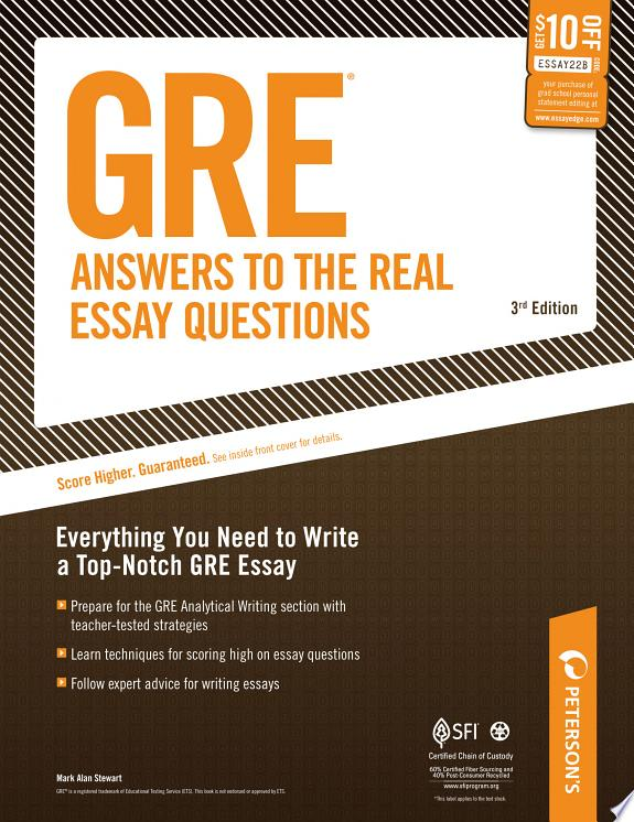 GRE Answers to the Real Essay Quest
