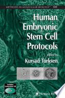 Human Embryonic Stem Cell Protocols Book PDF