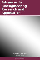 Pdf Advances in Bioengineering Research and Application: 2011 Edition Telecharger