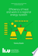 Efficiency of heat and work in a regional energy system
