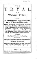 The Tryal of William Fuller
