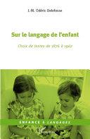 Sur le langage de l'enfant