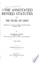 The Annotated Revised Statutes of the State of Ohio