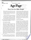 Foot Care For Older People Book PDF
