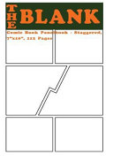 The Blank Comic Book Panelbook   Staggered  7x10  112 Pages