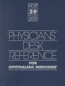 Physicians  Desk Reference for Ophthalmic Medicines Book