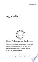 Science  Technology  and Development  Agriculture Book