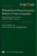 Romance corpus linguistics