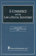 E-commerce and the law of digital signatures