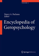 Encyclopedia of Geropsychology