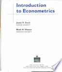 Introduction to Econometrics, Stock-Watson, Pearson Education