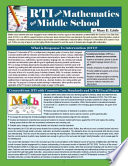 Rti And Mathematics For Middle School Book PDF