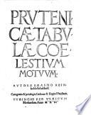 Prutenicae tabulae coelestium motuum
