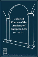 Collected Courses of the Academy of European Law / Recueil des cours de l' Académie de droit européen ebook