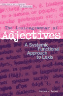 The Lexicogrammar of Adjectives