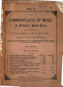 The Commonplaces of Music  pt  K  L  M  Historical specimens of music