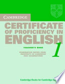 Cambridge Certificate of Proficiency in English 1 Teacher's Book