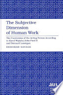 The Subjective Dimension of Human Work