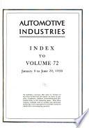 Automotive Industries, the Automobile