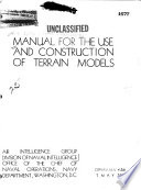 Manual for the Use and Construction of Terrain Models