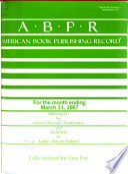 American Book Publishing Record  , Band 48,Ausgaben 3-4