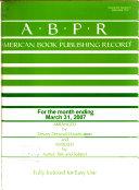American Book Publishing Record - Band 48,Ausgaben 3-4 - Seite 88