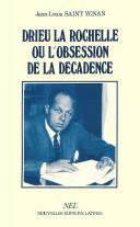 Pdf Drieu La Rochelle, ou, L'obsession de la décadence Telecharger