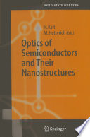 Optics Of Semiconductors And Their Nanostructures Book PDF