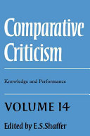 Comparative Criticism  Volume 14  Knowledge and Performance