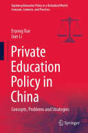 Private Education Policy in China