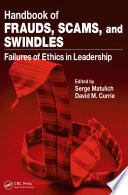 Handbook of Frauds  Scams  and Swindles