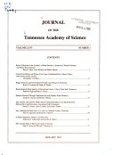 Journal of the Tennessee Academy of Science