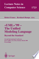 UML 99   The Unified Modeling Language  Beyond the Standard Book