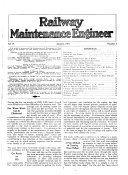 Railway Maintenance Engineer Vol 17 No 1 1921