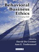 Behavioral Business Ethics Pdf/ePub eBook