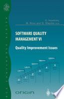 Software Quality Management VI