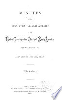 Minutes of the General Assembly of the United Presbyterian Church of North America