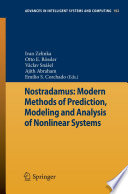 Nostradamus Modern Methods Of Prediction Modeling And Analysis Of Nonlinear Systems Book PDF