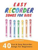 Easy Recorder Songs for Kids