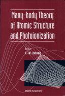 Many body Theory of Atomic Structure and Photoionization
