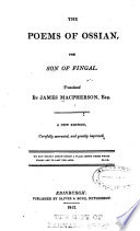 The Poems of Ossian  the Son of Fingal Book