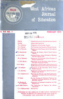 West African Journal of Education