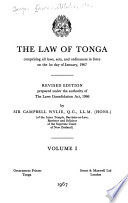 The Law of Tonga